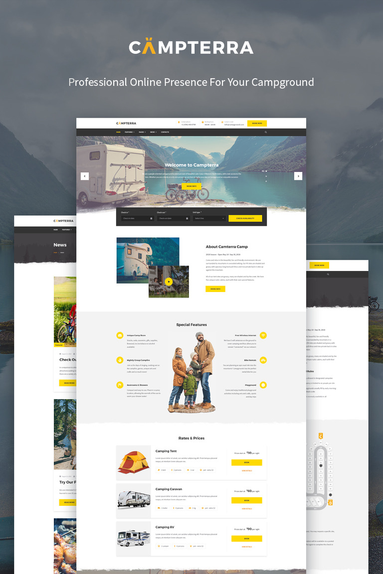 Campterra - Camping WordPress Theme