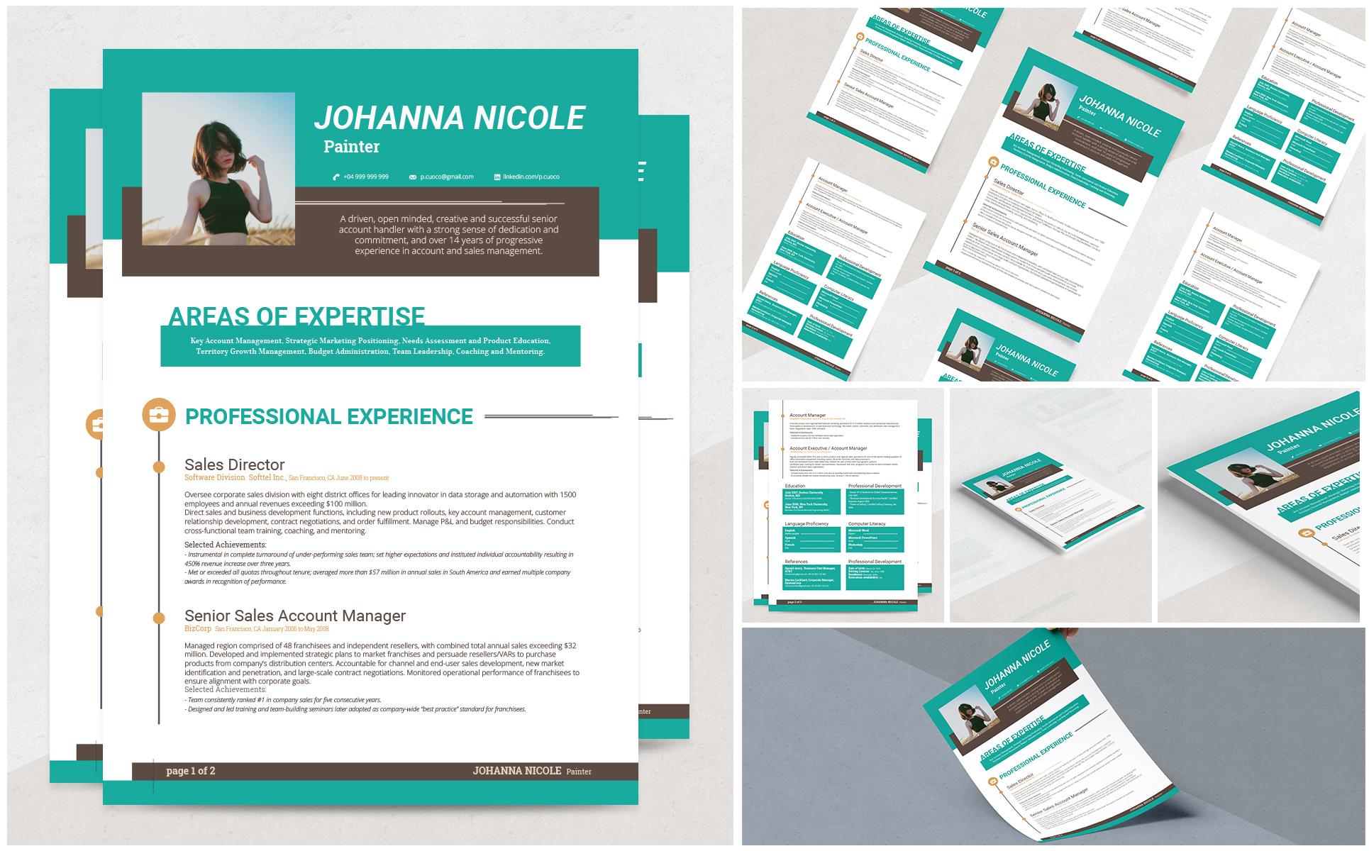 johanna resume template  69139