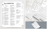 Manhattan Resume Template