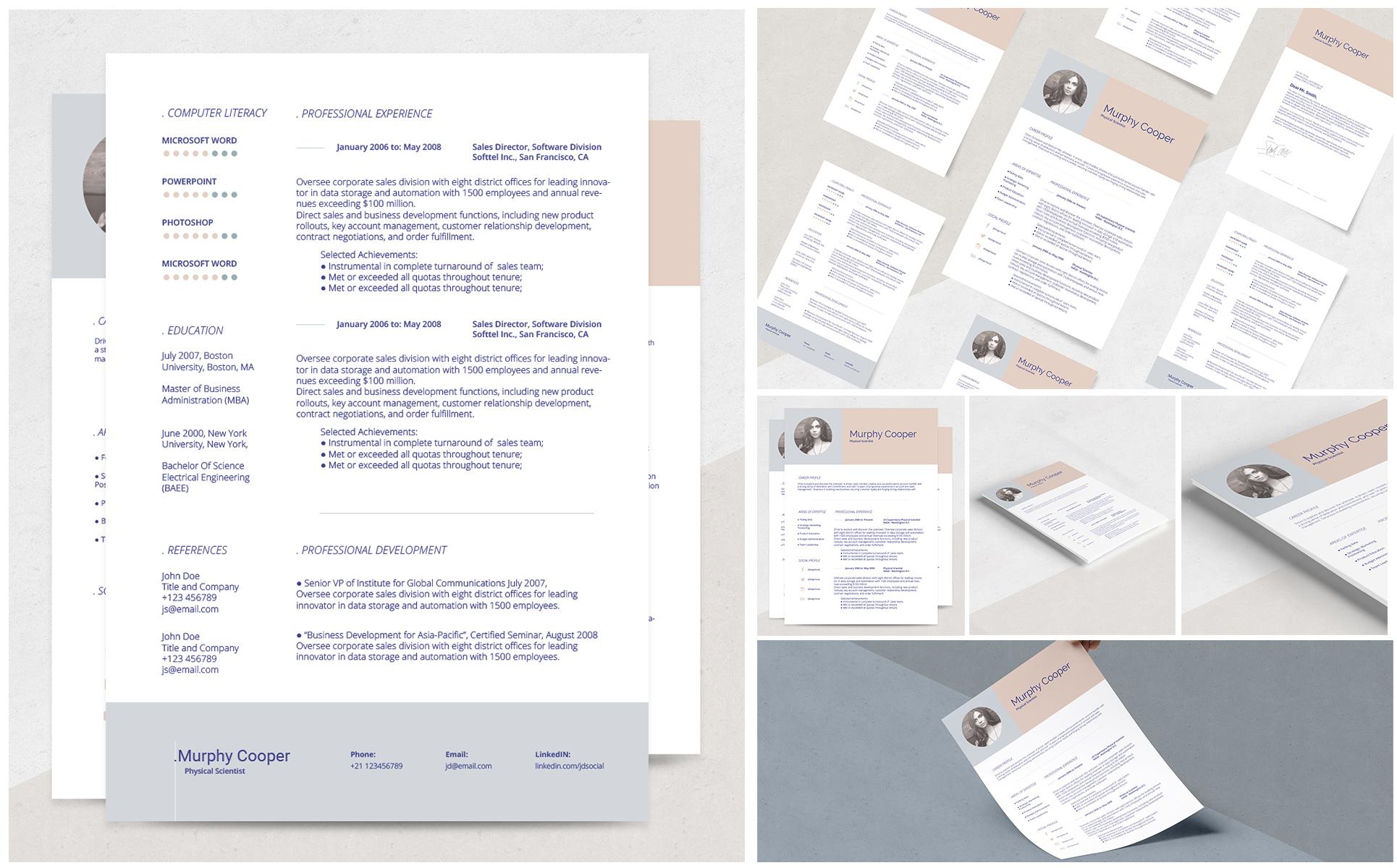 Lebenslauf-Vorlage #69184 für Design