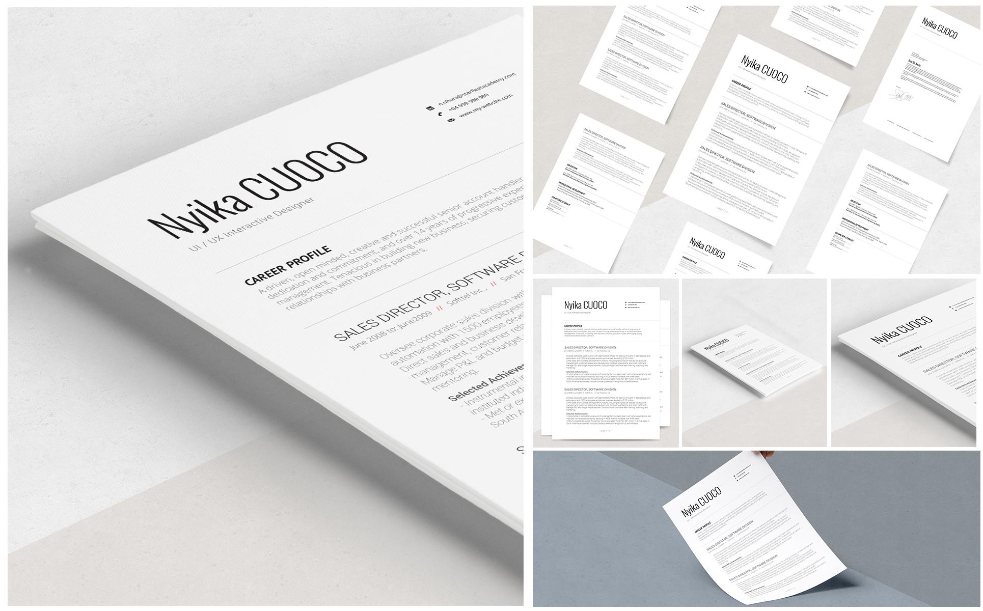 Lebenslauf-Vorlage #69185 für Design