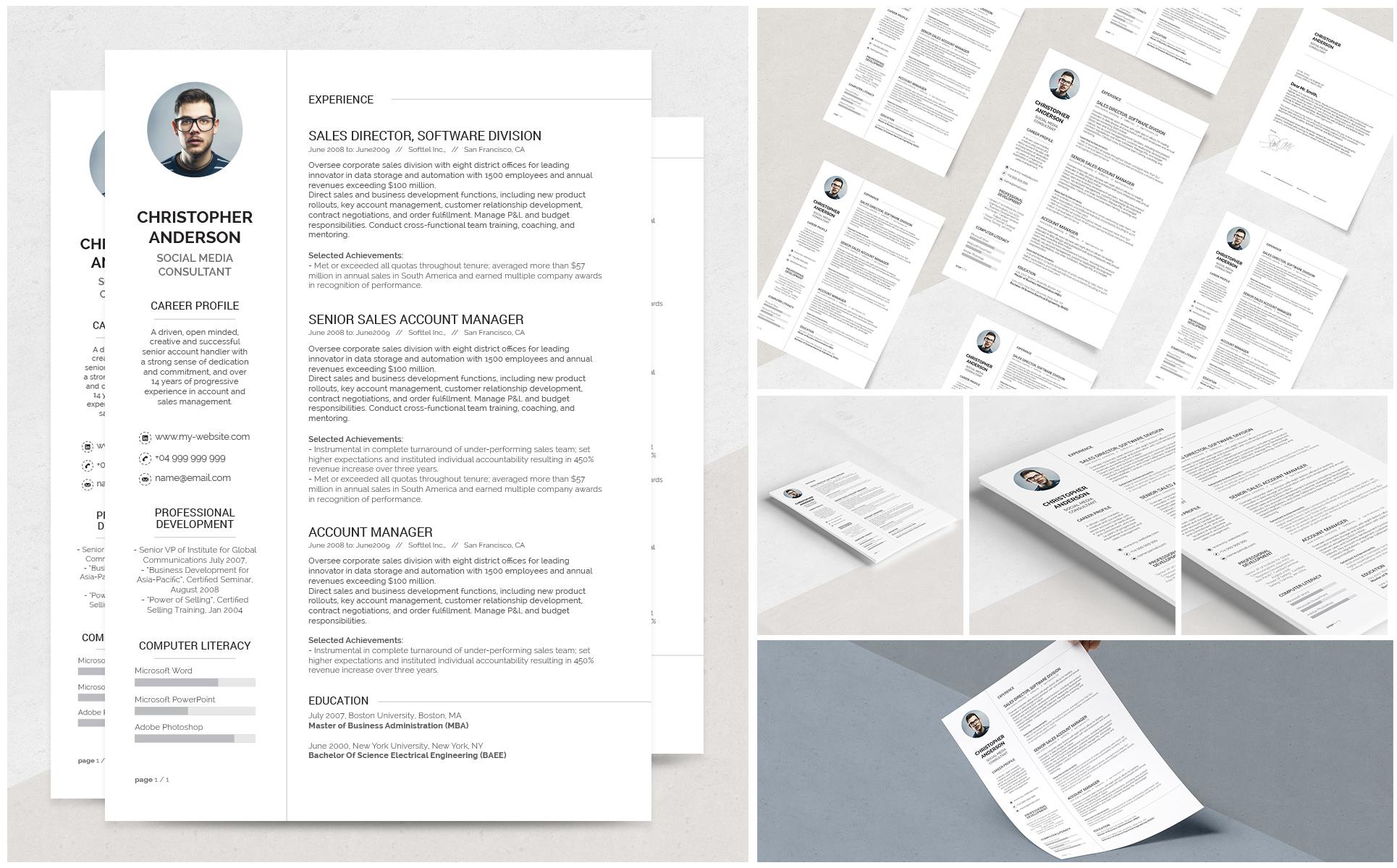 Lebenslauf-Vorlage #69235 für Design