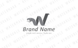 W Abstract Snake Logo Template