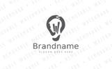 Smart Strategy Bulb Logo Template