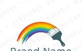 Painted Rainbow Logo Template