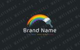 Painted Rainbow Logo Template