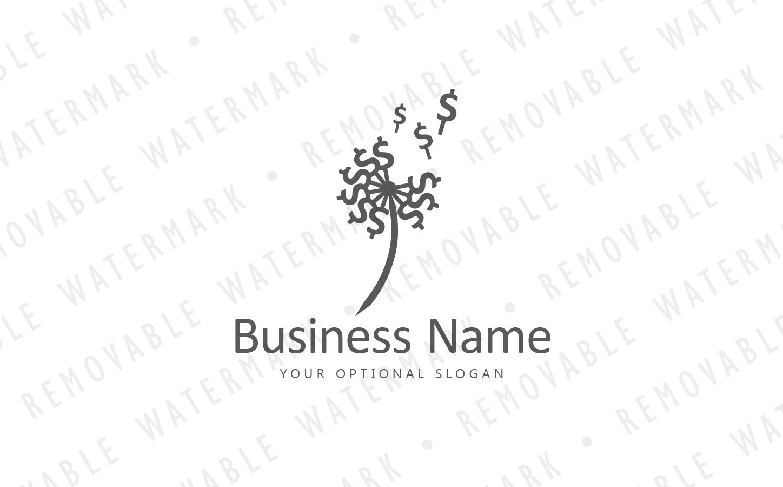 blowing money dandelion logo template 68420