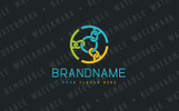 Chain Circle Logo Template