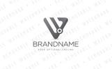 W Triangle Node Logo Template