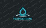 Water Drop Impact Logo Template