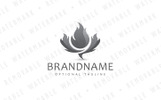 Maple Flame Logo Template