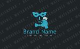 Hidden Face Logo Template