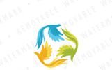 Mythic Bird Triad Logo Template