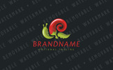 Chili Pepper Snail Logo Template