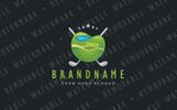 Golf Course Emblem Logo Template