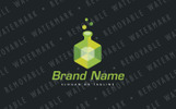 Cubic Flask Logo Template
