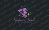 Seahorse Pixie Logo Template