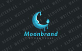 Lunar Candle Logo Template
