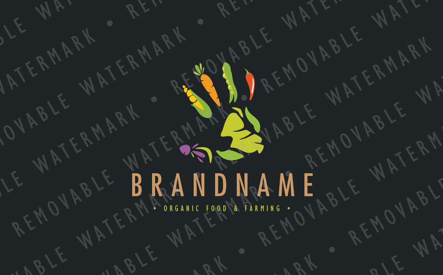 Farming Handprint Logo Template #69222
