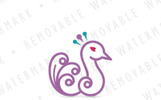 Peafowl Feathers Logo Template