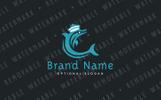 Dolphin Sailor Logo Template