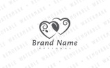 Shared Hearts Logo Template