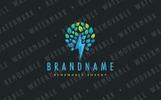 Lightning Tree Logo Template