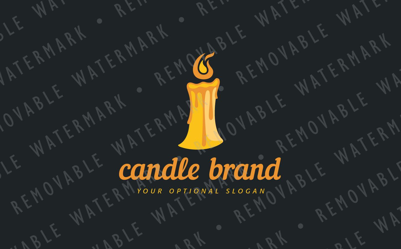 melting candle logo template 75357