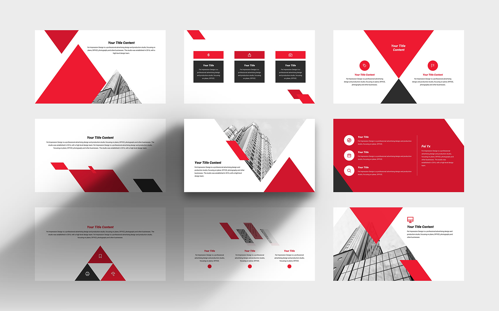 Business Simple Company PowerPoint Template
