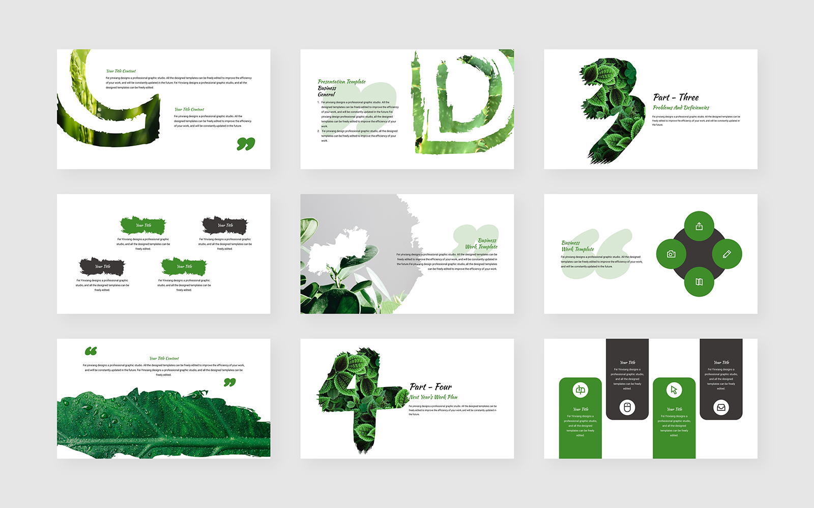 Small Fresh Fashion PowerPoint Template
