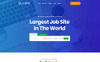 Plantilla PSD para Sitio de Portal de Empleo Captura de Pantalla Grande