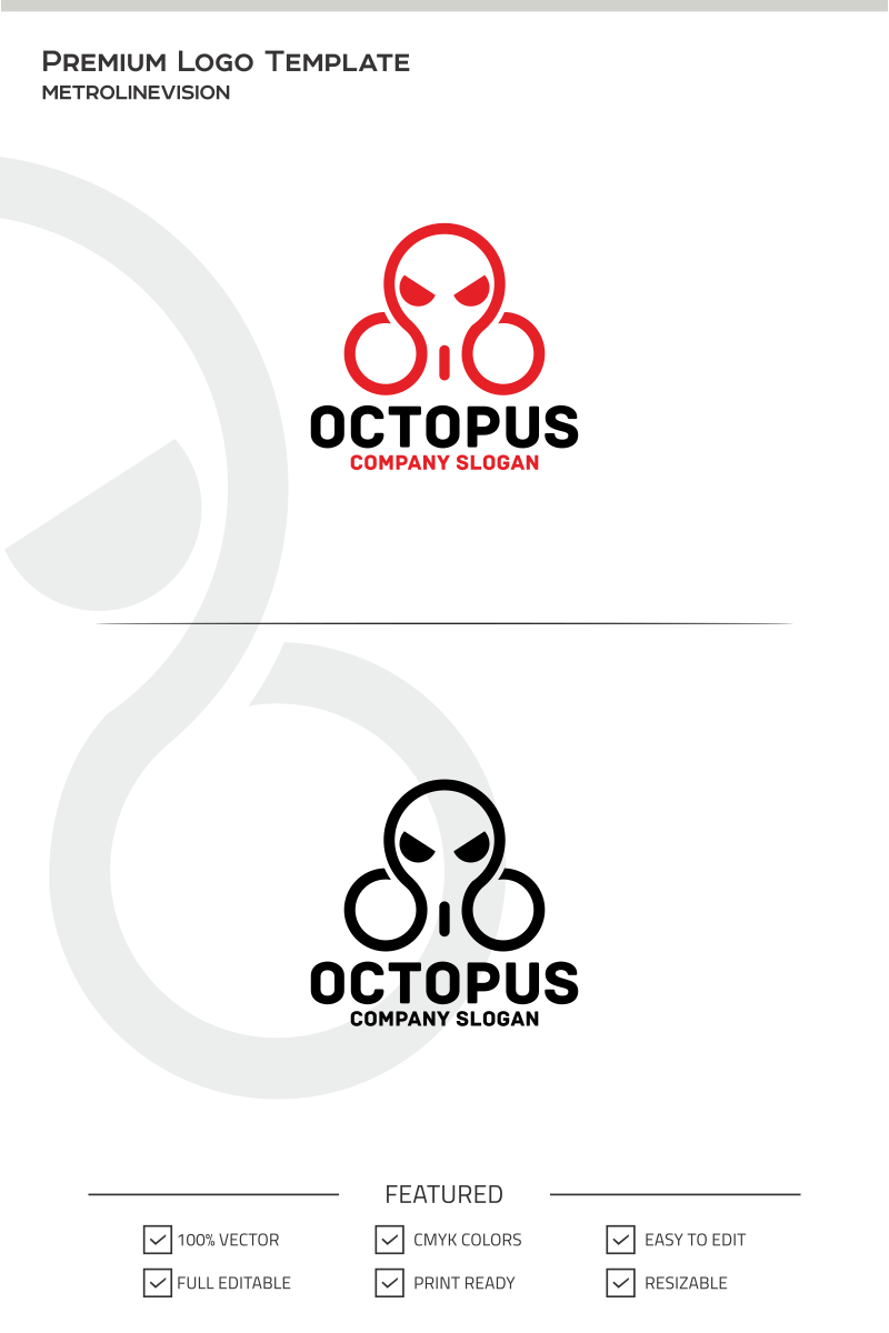 Octopus Logo Template #69833