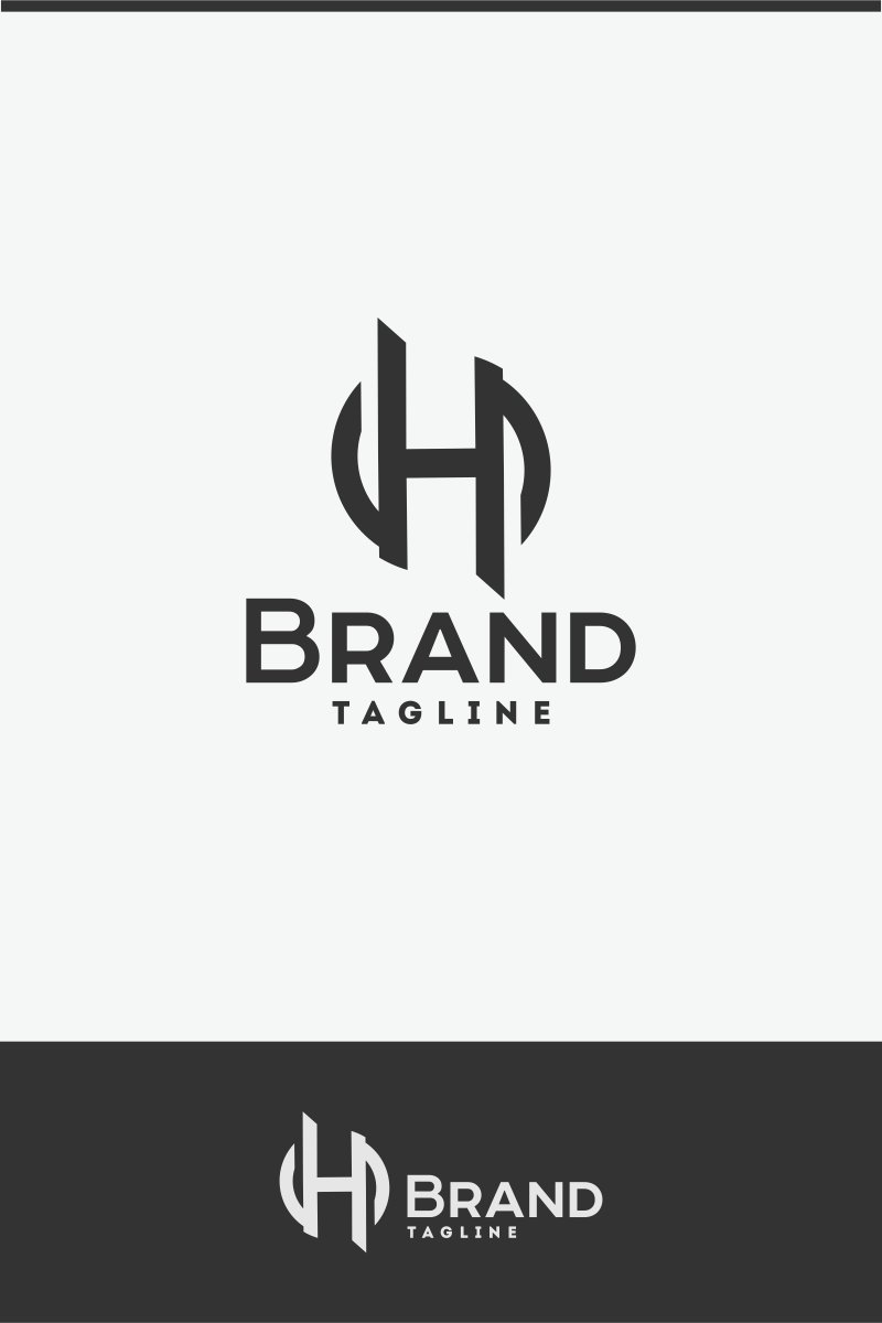 letter h logo template 70697