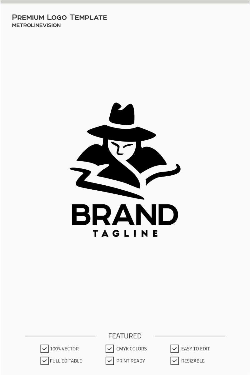 black hat logo template 70987