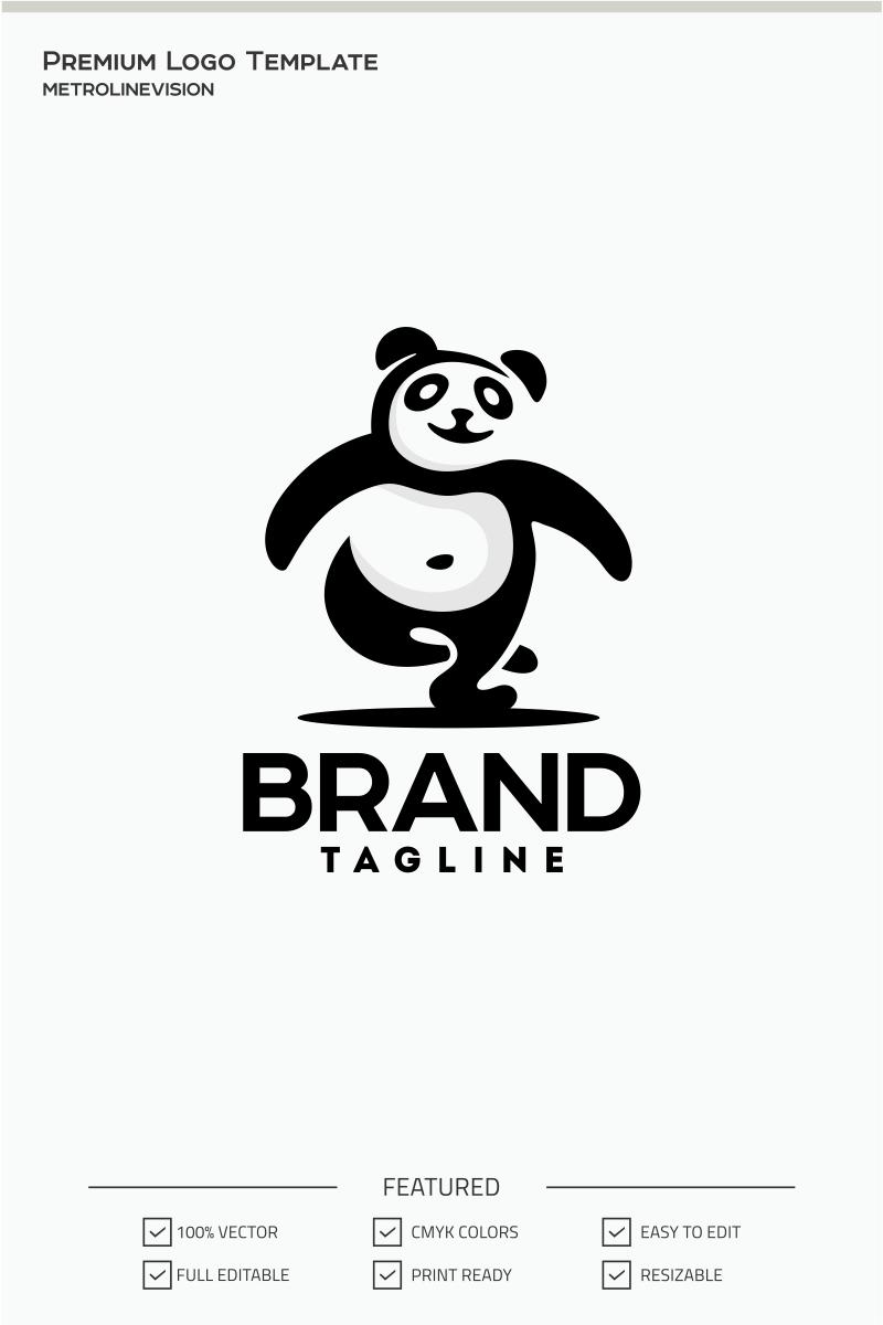 Panda Template | Happy Panda Logo Template 71092