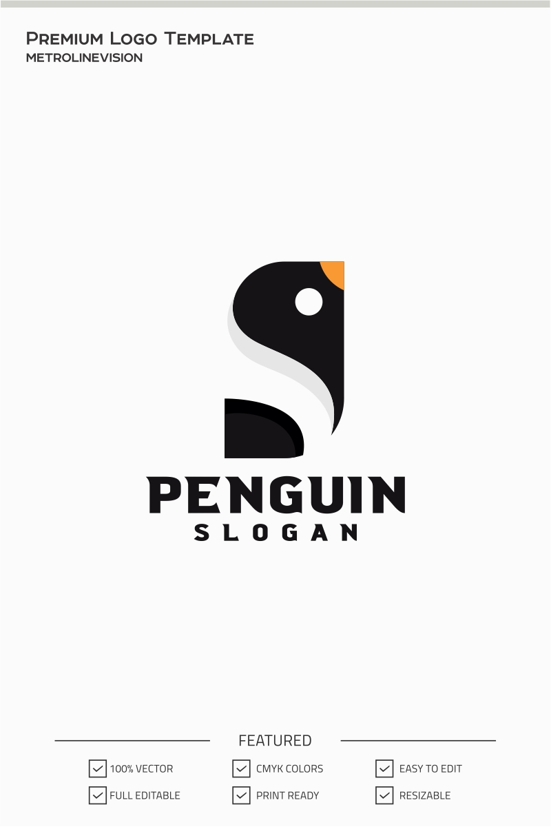 Penguin Logo Template 71409