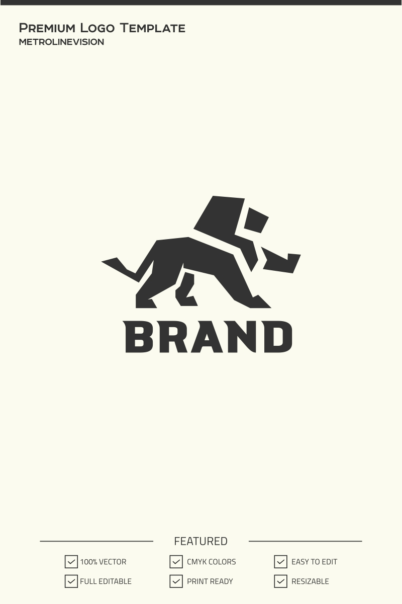 royal lion logo template 73932