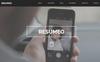 """Resumeo -"" Muse Template Groot  Screenshot"