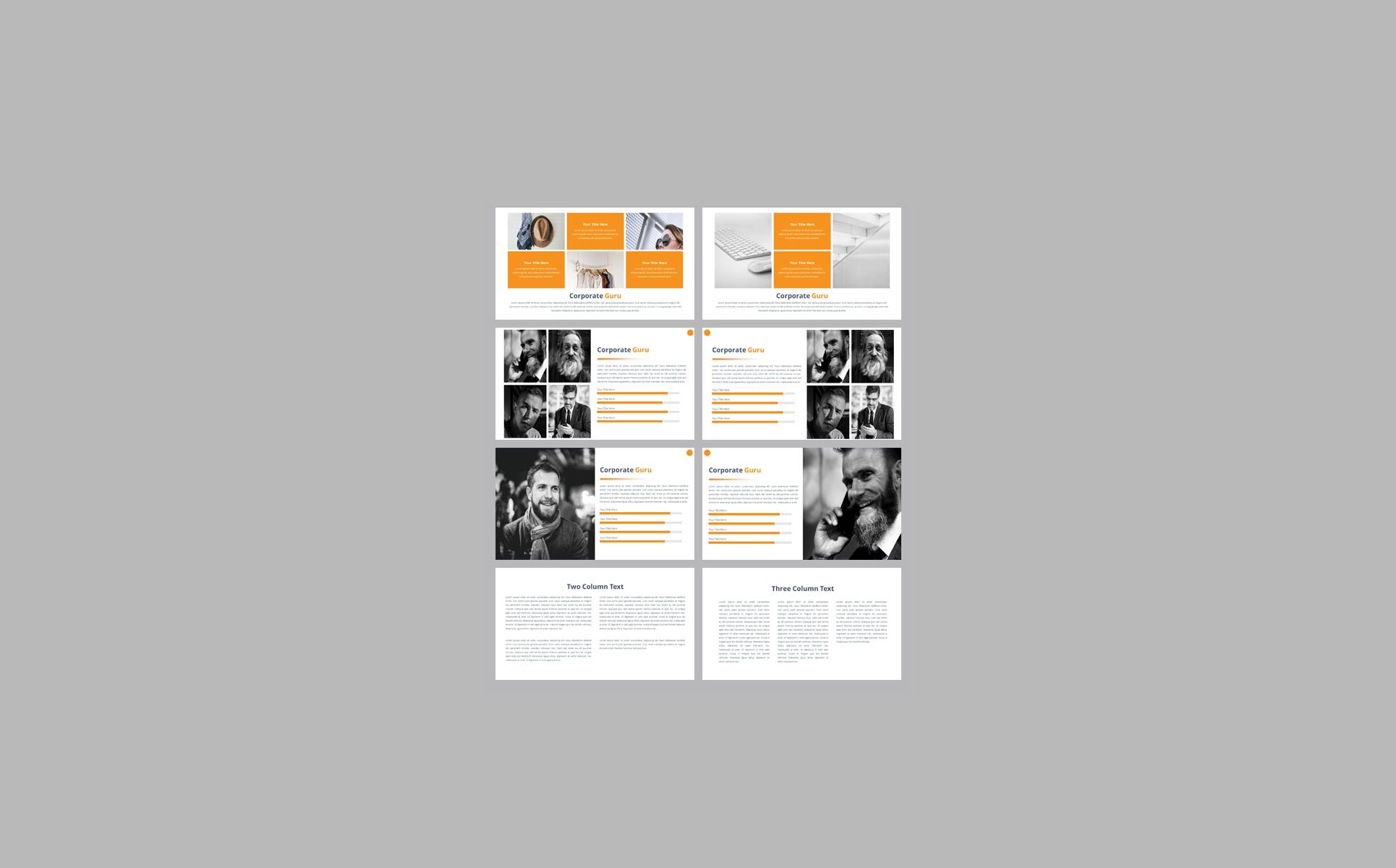 Corporate Guru Presentation PowerPoint Template