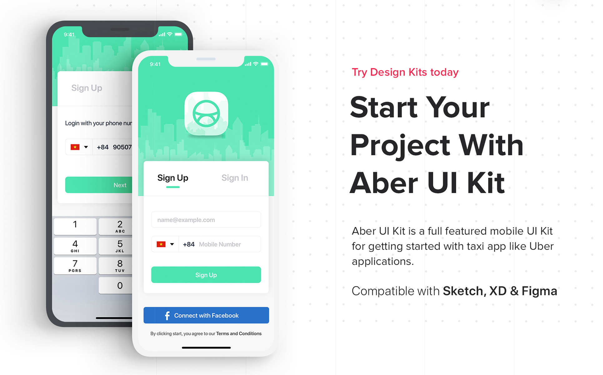 Taxi Booking App UI Kit Sketch Template #76437