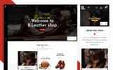 "PrestaShop Theme namens ""Be Smith - Leather & Crafts"""