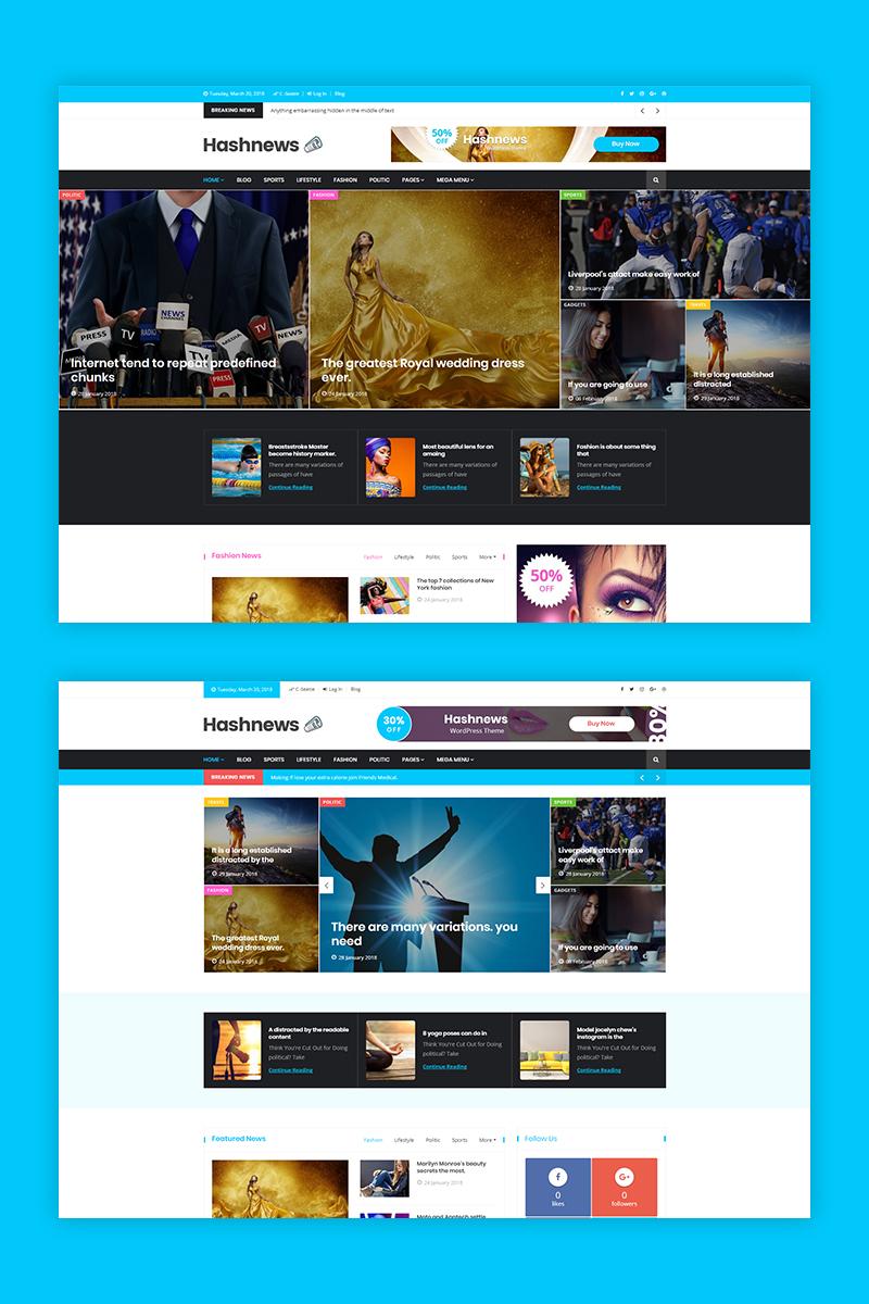 Адаптивный шаблон №68586 на тему бизнес и услуги, медиа-сайт, новостной портал