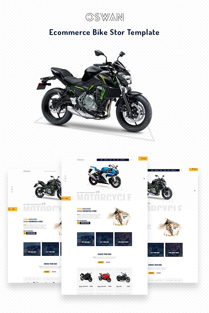 oswan ecommerce bike store website template 68709
