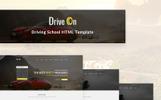 Адаптивний Шаблон сайту на тему школа водіїв