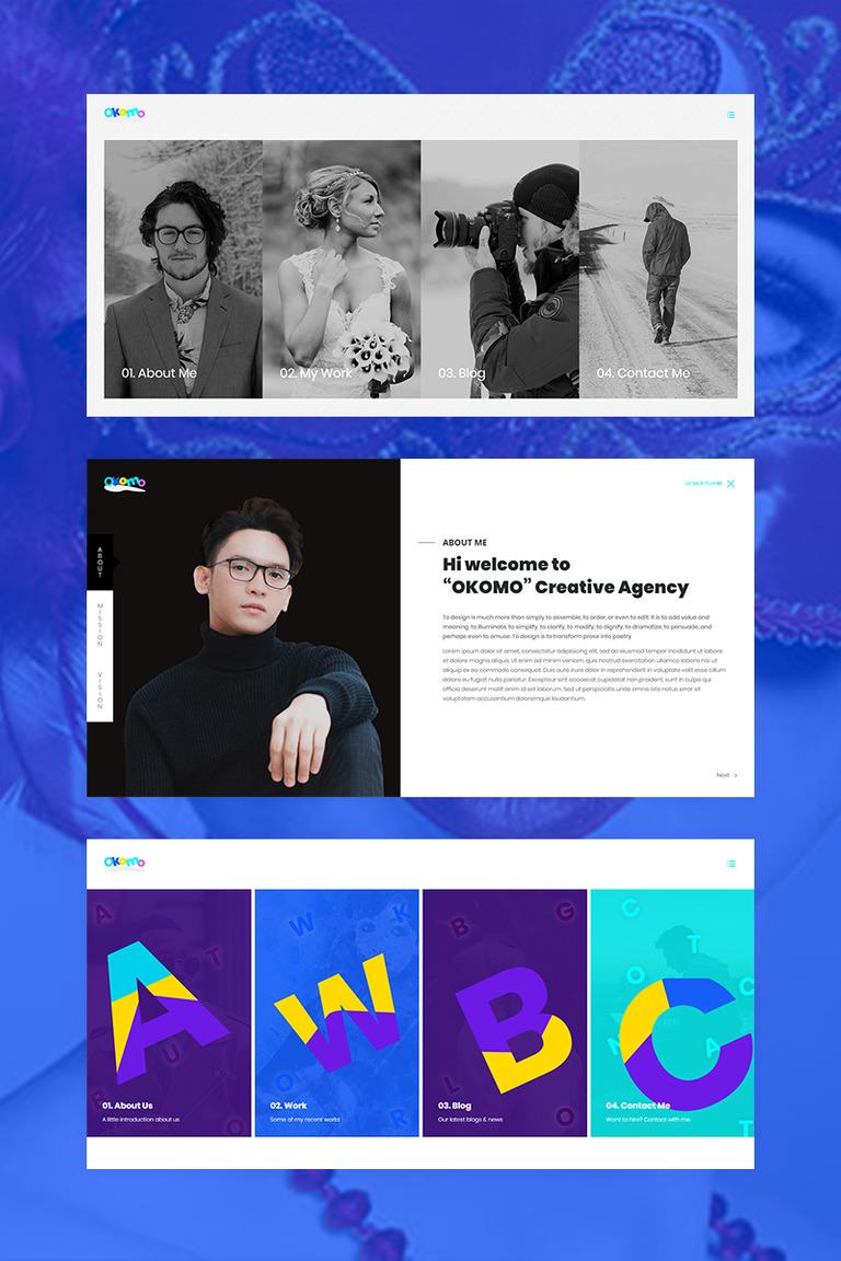 Okomo - Creative Portfolio Website Template #69013