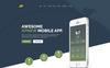 Responsivt Landing Page-mall för webutveckling En stor skärmdump