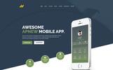 Responsivt Landing Page-mall för webutveckling
