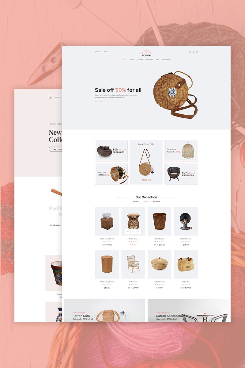 Nokshi - Handmade & Craft Shopify Theme