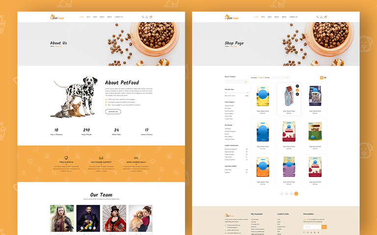 PetFood - Pet Sitter, Shop, Animal Care Shopify Theme