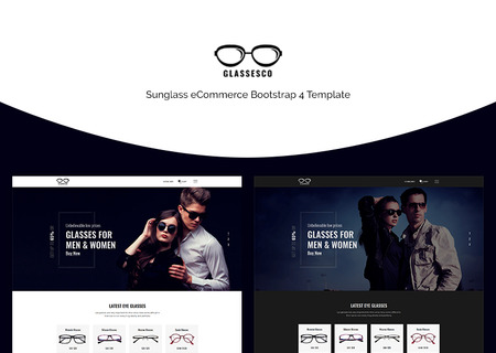 Glassesco - Glasses eCommerce Bootstrap4